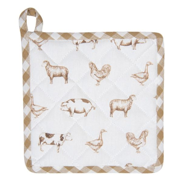Clayre & Eef Topflappen, natur Country Life Animals