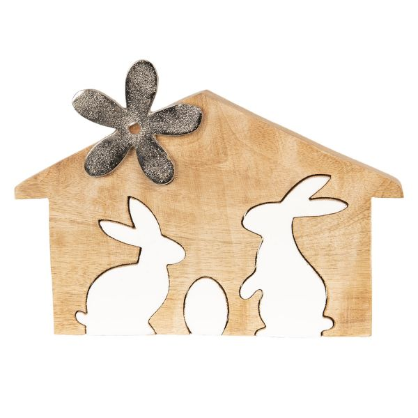 Clayre & Eef Kaninchen Hase 2 in 1, Holz