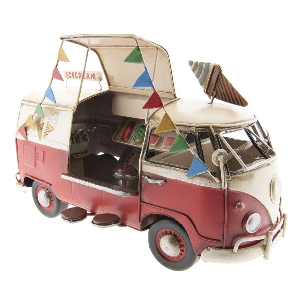 Clayre & Eef Modell VW-Bus Icecream, rot