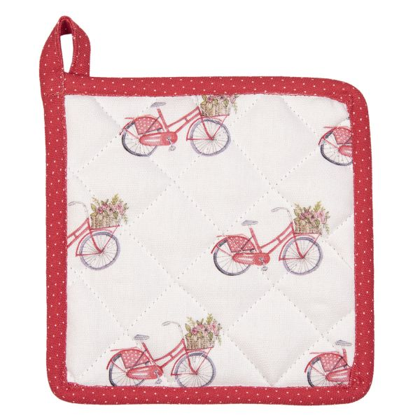 Clayre & Eef Kinder-Topflappen Red Bicycle