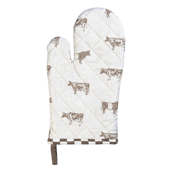 Clayre & Eef Ofenhandschuh Kitchen Cow. natur
