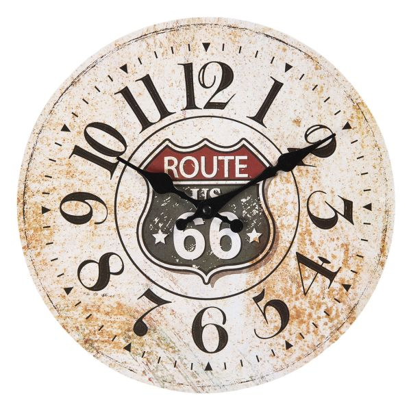Clayre & Eef Wanduhr Route 66
