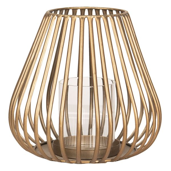 Clayre & Eef Windlicht Industrial Chic, gold