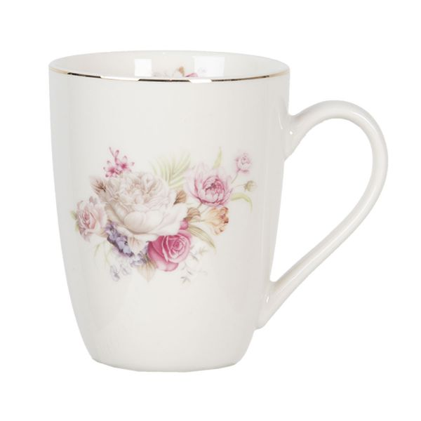 Clayre & Eef Kaffeebecher French Rose