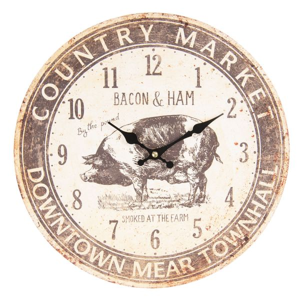 Clayre & Eef Wanduhr Country Market