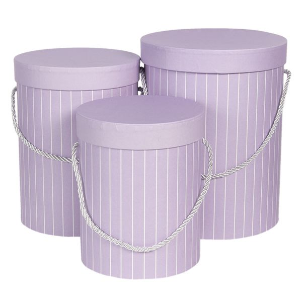 Clayre & Eef Hutschachtel Stripes, lila (Set)