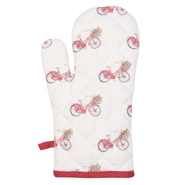 Clayre & Eef Ofenhandschuh Red Bicycle
